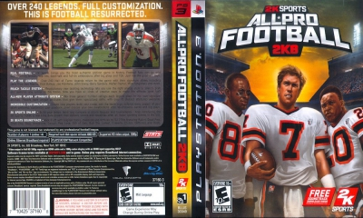 All Pro Football 2K8, PS3