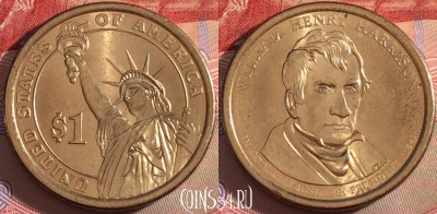 США 1 доллар 2009, William Henry Harrison, UNC, 102b-044