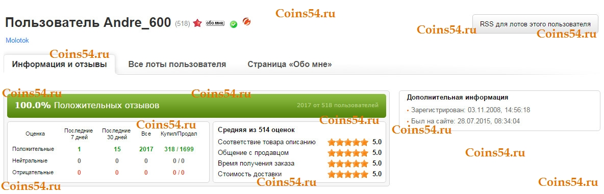 Coins54.ru Andre 600