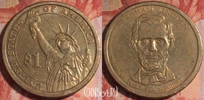 США 1 доллар 2010 года, Abraham Lincoln, 155a-060